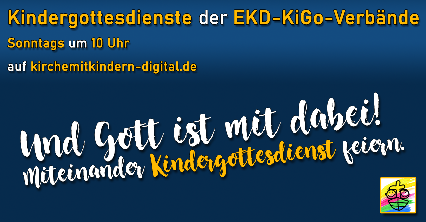Banner Kinderkirche digital der EKD