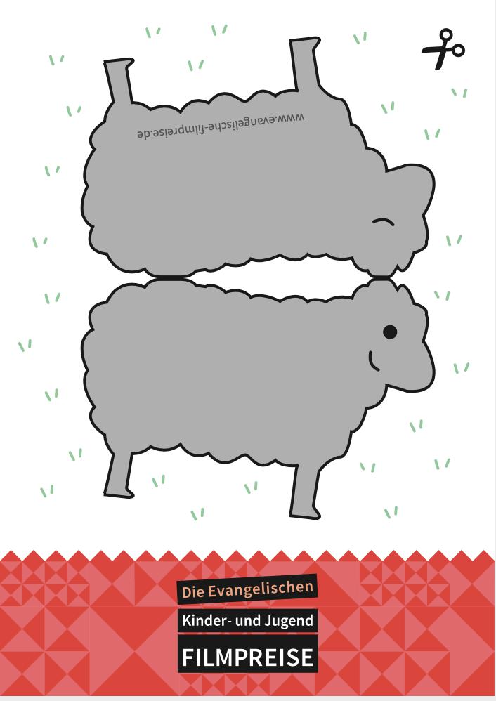 Postkarte Silbernes Schaf