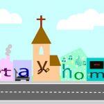 Kirche Häuser stay home Corona