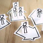 papierfiguren in gruppen