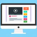 Monitor mit Youtube-Bild